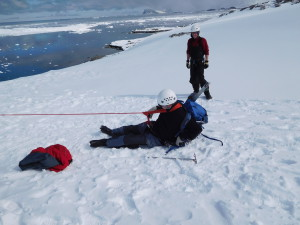 Spaltentraining an Rothera
