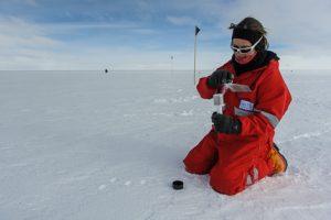 Katharina mit dem Schneestempel