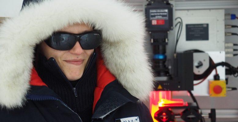 AWI-Wissenschaftlerin und Blogautorin Ina Kleitz. Foto: Jan Eichler