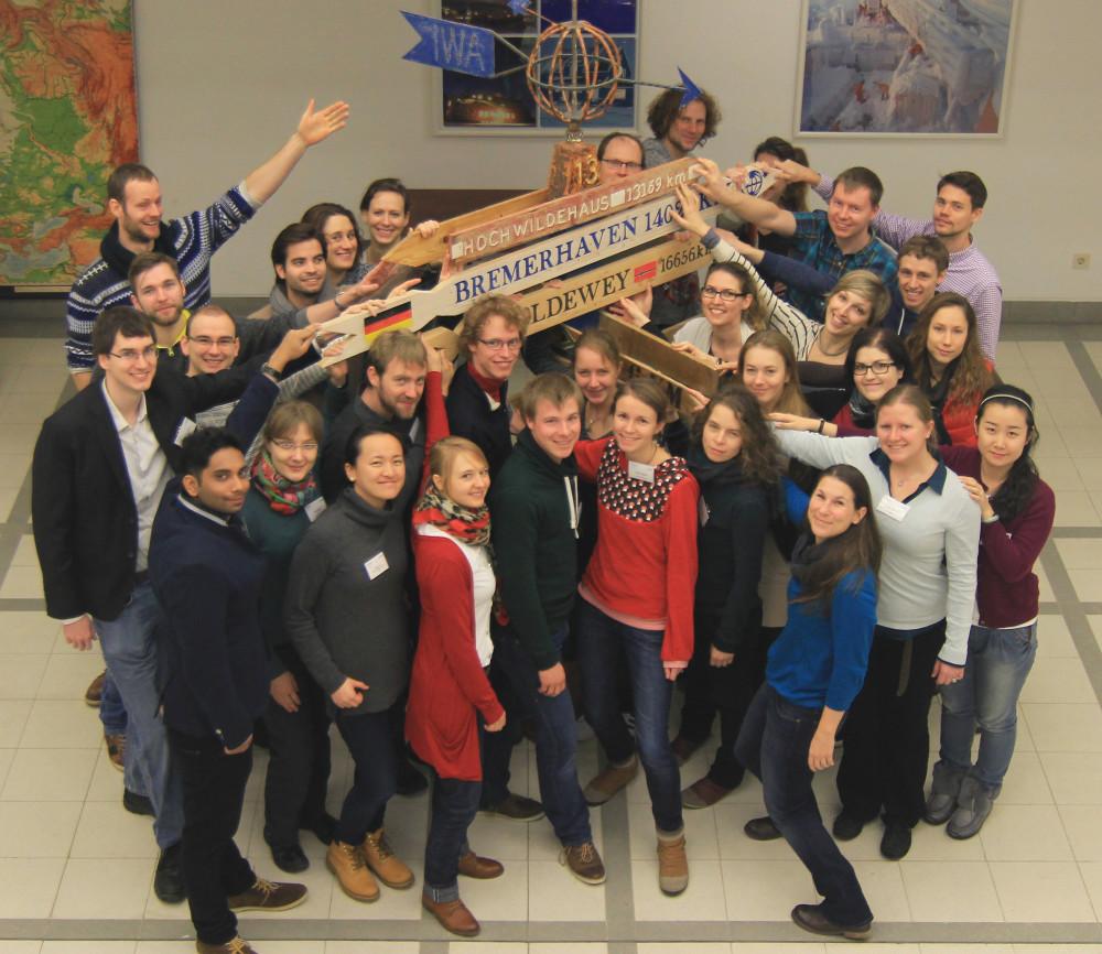 The Helmholtz Juniors of 2015 at the Alfred-Wegener-Institut