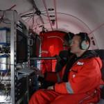 Der wissenschaftliche Bedienplatz auf Polar 6