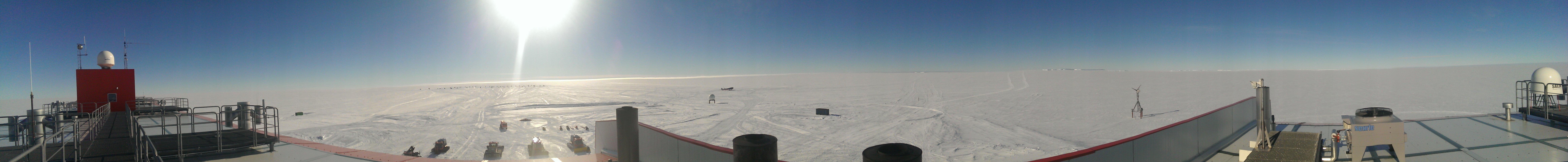Panoramablick von der Station Neumayer III