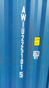 Die sechsstellige Container-Nummer.