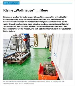 Screenshot hzg.de