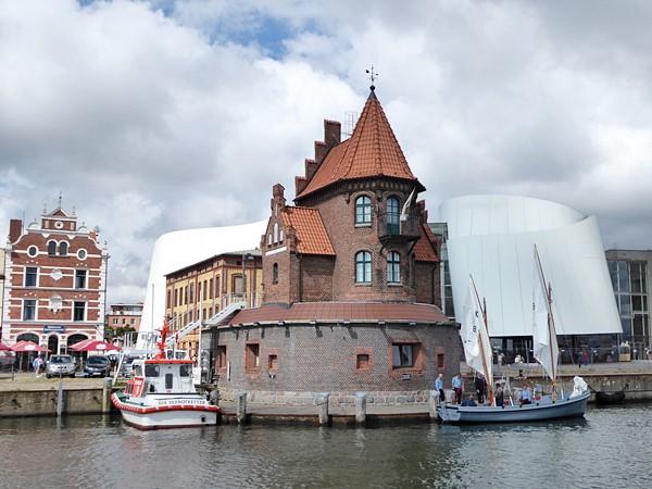 Blick auf Stralsund mit Ozeaneum