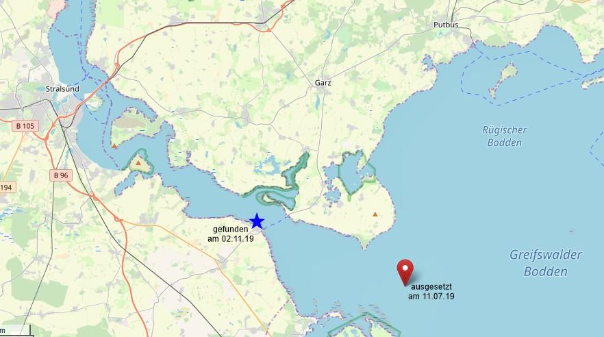 Kartenausschnitt Ostsee