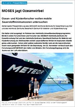 Screenshot der Website hzg.de