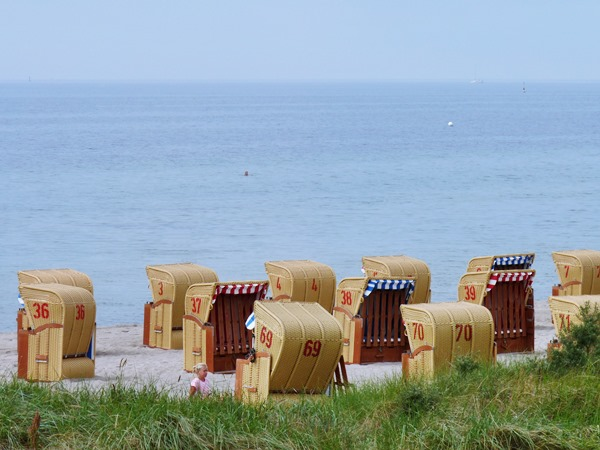 Strandkörbe auf der Insel Poel an der Ostsee (Foto: Ina Frings / HZG)