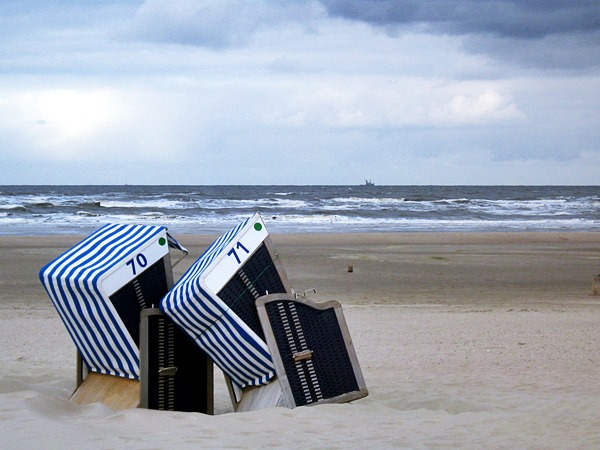 Strandkörbe auf der Insel Norderney (Foto: Ina Frings)
