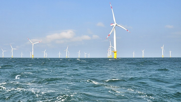 Windpark in der Nordsee (Foto: Bettina Rust / HZG)