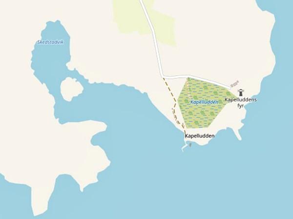 Kartenausschnitt einer Landzunge