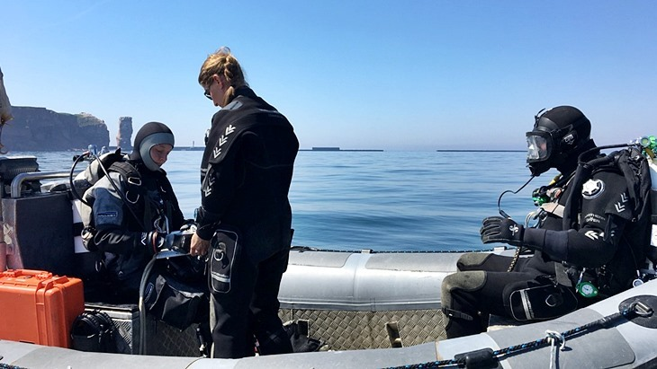 diving groups off Helgoland