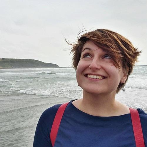 Foto einer Person am Strand