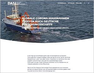 Screenshot allianz-meeresforschung.de