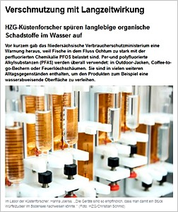 Screenshot hzg.de