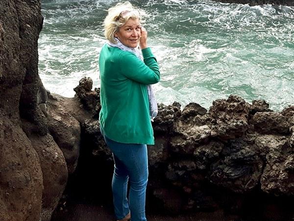 Lady at the sea