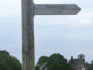 Wegweiser Richtung Wattenmeer