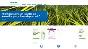 Screenshot helmholtz-klima.de