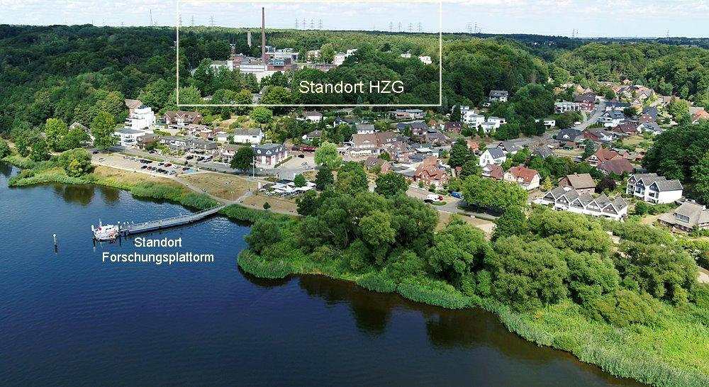 Luftbild der Ortschaft Tesperhude an der Elbe