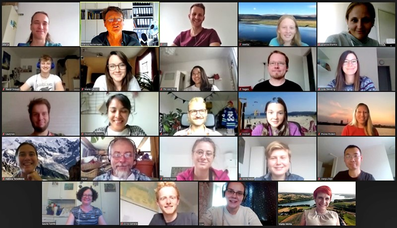 Screenshot of participants online communicating
