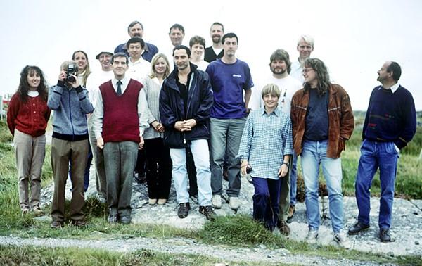 Gruppenbild der Forscher auf der Messstation