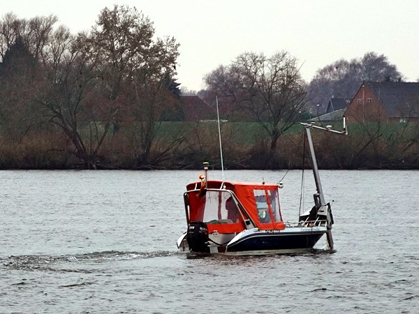 Boot auf der Elbe