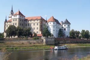 Am Schloss Hartenfels in Torgau (Foto: UFZ / C. Schütze).