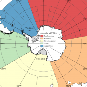 Five METAREAs are established around the Antarctic continent with South Africa, Australia, New Zealand, Chile and Argentina responsible for marine weather (including ice) services in their respective zone. Other services required of the respective nations include the responsibilities outlined by the International Convention on Maritime Search and Rescue.