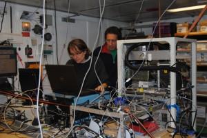 Valerie and Roland in Lab. Photo: Kristin Werner
