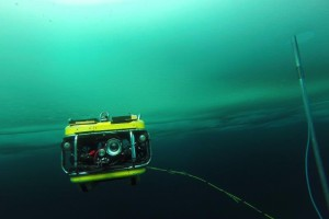 Remotely Operated Vehicle (ROV) under the ice. Photo: Christian Katlein