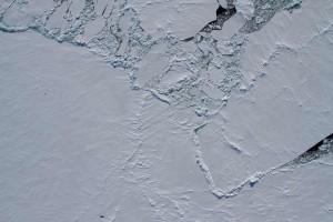 Die Eissituation kurz nach der Abfahrt der Polarstern von der Scholle. Foto: Thomas Krumpen