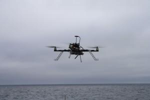 Hexacopter im Arktis-Einsatz. Foto: Jonas Hagemann