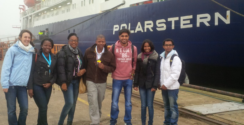 African scientists before embarkation in Bremerhaven on 29 October 2015 (photo: Ngozi Oguguah)