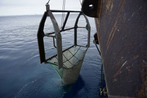 Photo 1: The Agassiz trawl. Photo: Moritz Holtappels