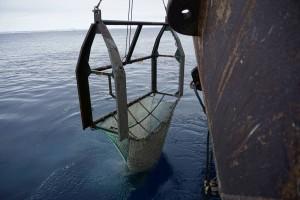 Foto 1: Das Agassiz Trawl. Foto: Moritz Holtappels