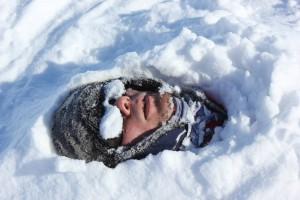 A snowman somewhere around Ronne ice shelf. Photo: Julia Christmann