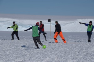 Southernmost soccer game of the world?