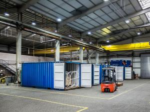AWI Hafenlager auf dem Gelände der Lloyd-Werft. Thomas Ronge/AWI