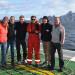 Bathymetry working group. Svenja Papenmeier (AWI), Laura Jensen (AWI), Friedrich Artel (AWI), Henrik Grob (Uni Hamburg), Sjard Stratmann (Uni Hamburg) and Jürgen Goßler (KUM/AWI). Photo Dirk Nürnberg