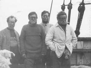 …and during an expedition (2nd from the left). Source: Archive for German Polar Research