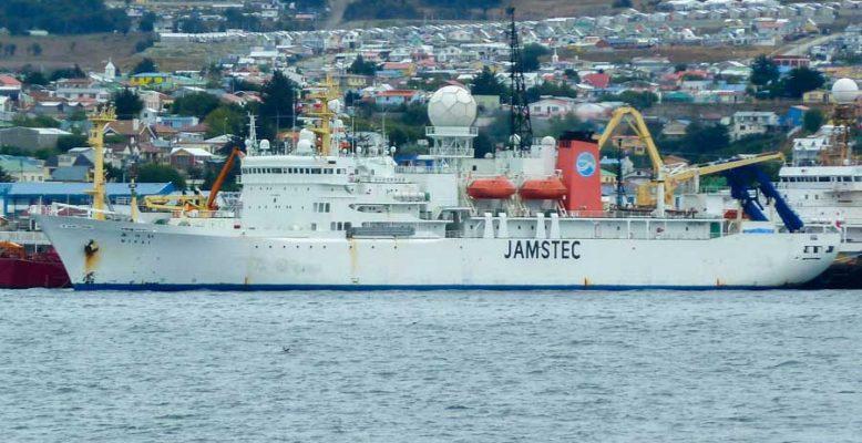 Das japanische Forschungsschiff Mirai (Foto: Kevin Küssner)
