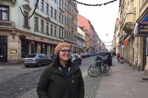 Karina Pombo Garcia at Louisenstraße. Foto: Privat