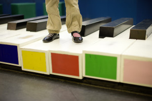 Just one of the many attractions in the Children's Museum: the giant piano on the floor. Source: Oliver Killig