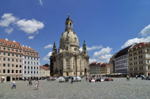 One of the most famous locations in Dresden: The Frauenkirche in the old part of the city. Source: Frank Exß DML BY
