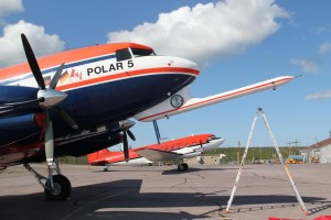 Polar 5 at the airport in Inuvik. Picture: K. Kohnert