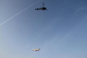 Helipod-Testflug in Braunschweig, Foto: K. Kohnert