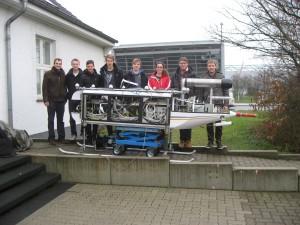 Winterliche Tests im Freien zur Überprüfung des Gesamtsystems. Foto: IFF/TU Braunschweig