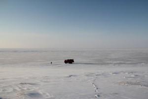 Pause auf der Überfahrt nach Samolyov. Foto: K. Kohnert