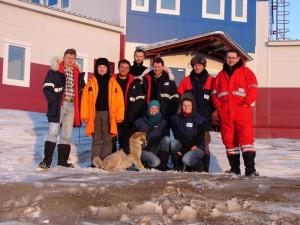 Das Team der Frühjahrsexpedition (v.l.n.r.): Andrei, Katja, Moritz, Niko, Torsten, Eric, Sascha, Feja, Katrin, Daniela. Foto: D. Franz.
