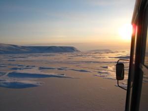 Sonnenuntergang über der Lena. Foto: D. Franz